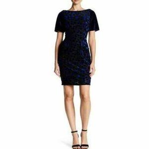 T Tahari Women's Riley Floral Velvet Dress Size M